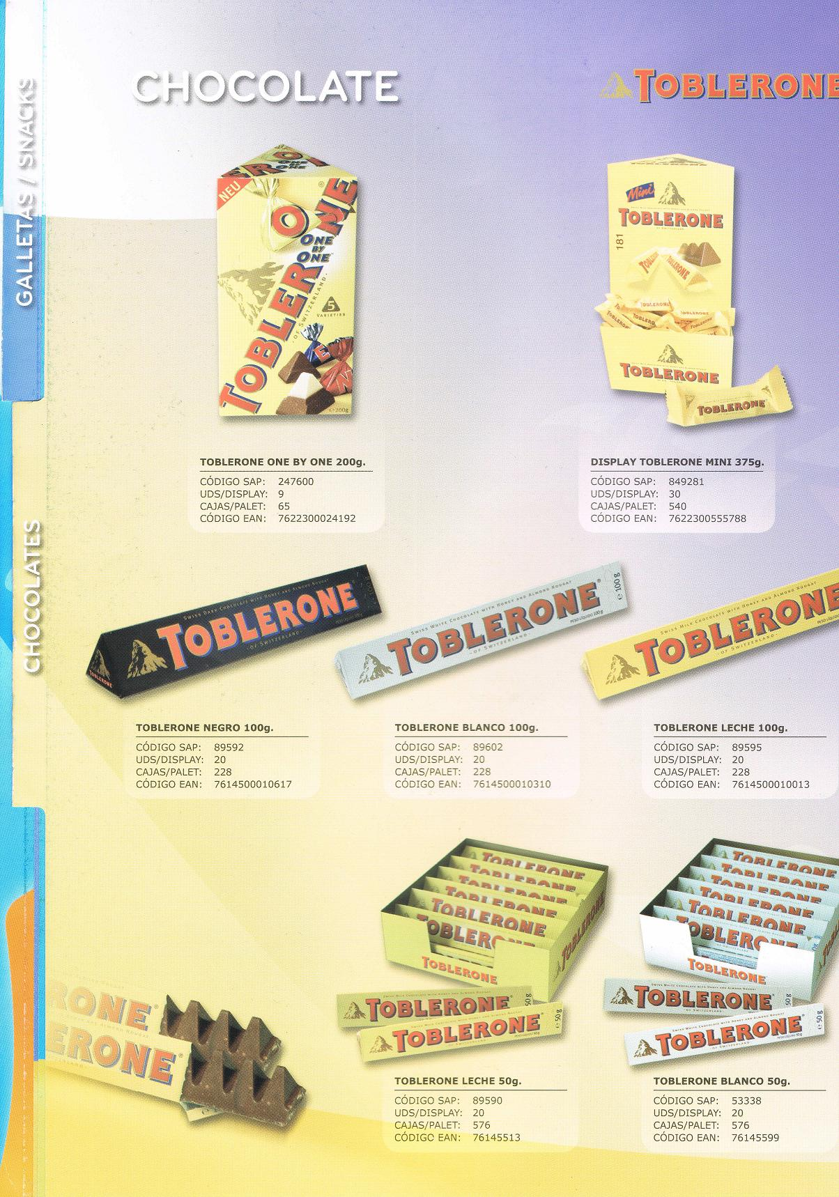 Gama Chocolate Toblerone